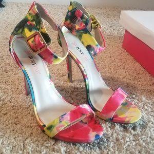 Women's Floral Open Toe Heeled Sandal